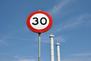 30mph limit road sign