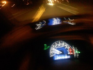 blurry image of car dashboard