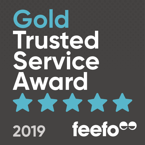 Feefo Gold trusted service award for RED