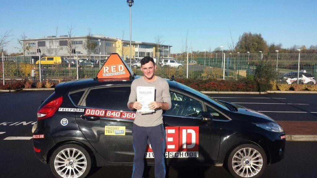 Gabriel Fell pass driving test with RED Driving school