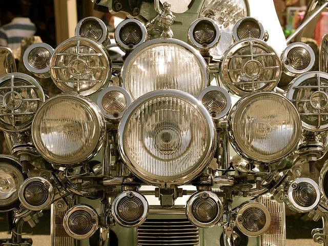 Multiple headlights