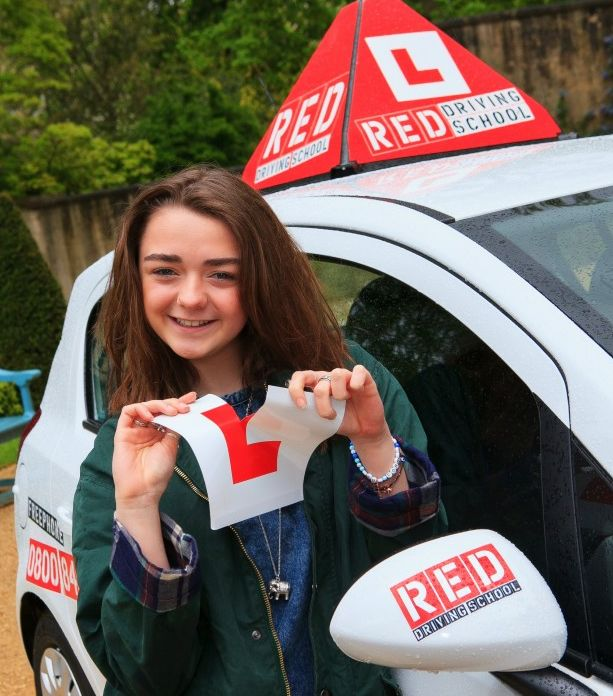 Maisie Williams tears L Plate