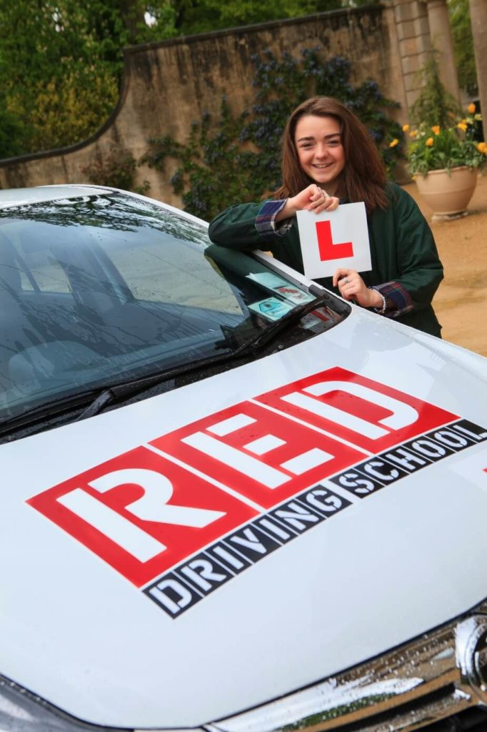 Maisie Williams with L Plate