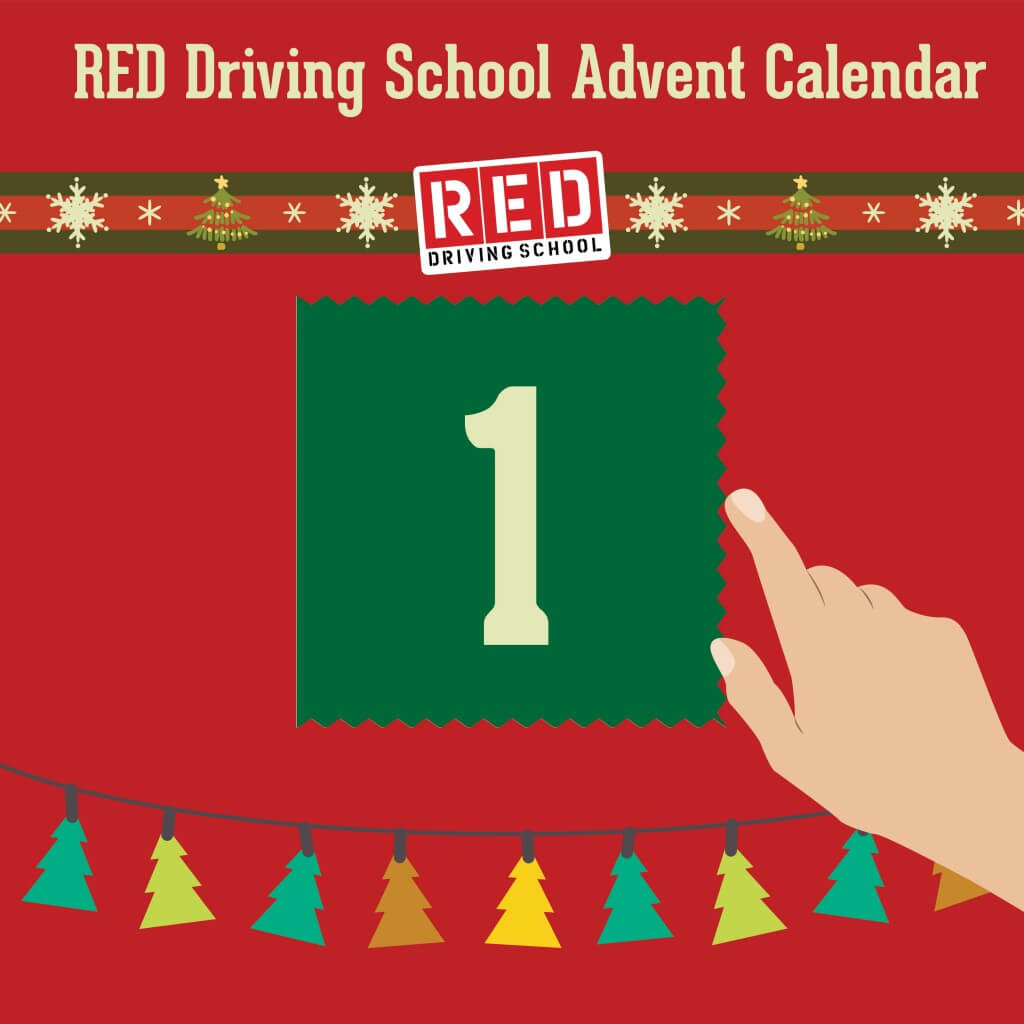 RED driving school advent calendar