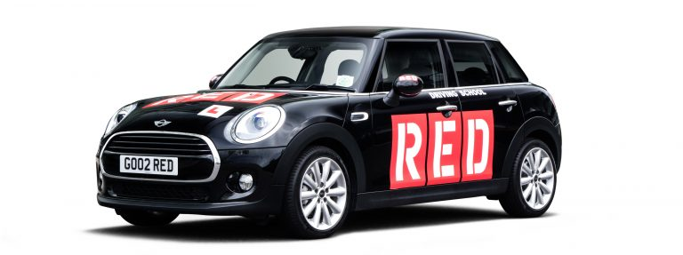 Black RED driving school mini