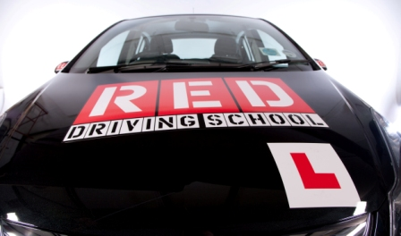 RED Driving School Car Bonnet
