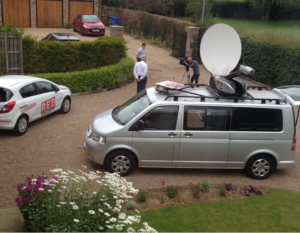 Sky news van at RED