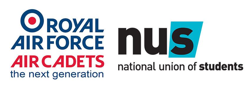 Royal Air Force and NUS Logos